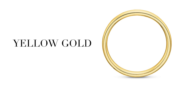 Yellow Gold Mens Bands