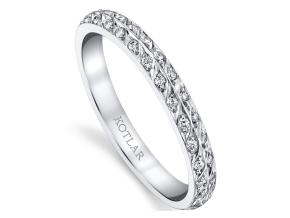 Wedding Rings from the Artisan Pave - By Harry Kotlar - Style #: DDA128C-ME01