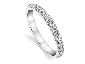 Wedding Rings from the Artisan Pave - By Harry Kotlar - Style #: DDA128C-ME02