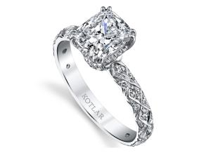 Engagement Rings from the Artisan Pave - By Harry Kotlar - Style #: DRA128B-KC06