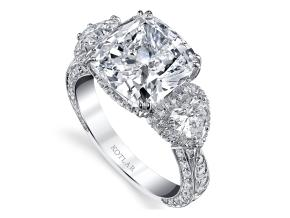 Engagement Rings from the Artisan Pave - By Harry Kotlar - Style #: DRA181A-KC25