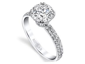 Engagement Rings from the Artisan Pave - By Harry Kotlar - Style #: DRA128C-RD07
