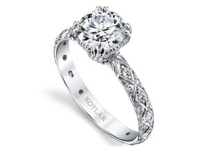 Engagement Rings from the Artisan Pave - By Harry Kotlar - Style #: DRA128B-RD05