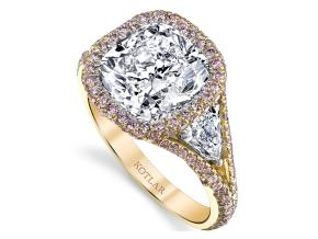 Engagement Rings from the Crescendo - By Harry Kotlar - Style #: DRP191D-KC18