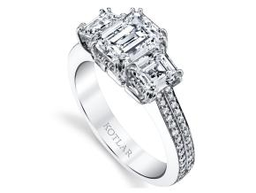 Engagement Rings from the Harmonie - By Harry Kotlar - Style #: DTP185A-EC07