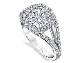 Engagement Rings from the Crescendo - By Harry Kotlar - Style #: DRP191B-KC08