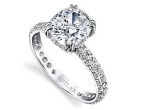 Engagement Rings from the Artisan Pave - By Harry Kotlar - Style #: DRA128D-KC09