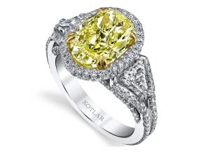 Engagement Rings from the Crescendo - By Harry Kotlar - Style #: DRP215B-OV12