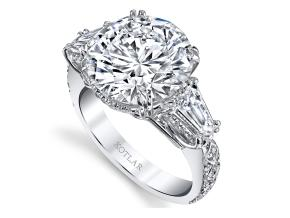 Engagement Rings from the Artisan Pave - By Harry Kotlar - Style #: DRA142A-RD24