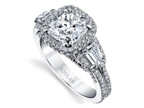 Engagement Rings from the Crescendo - By Harry Kotlar - Style #: DRP215A-KC10