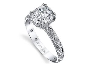Engagement Rings from the Artisan Pave - By Harry Kotlar - Style #: DRA128B-KC07