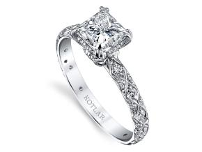 Engagement Rings from the Artisan Pave - By Harry Kotlar - Style #: DRA128B-PR05