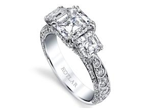 Engagement Rings from the Artisan Pave - By Harry Kotlar - Style #: DTA138B-AS07