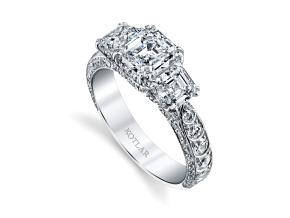 Engagement Rings from the Artisan Pave - By Harry Kotlar - Style #: DTA138B-AS05