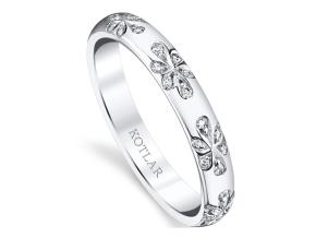 Wedding Rings from the Artisan Pave - By Harry Kotlar - Style #: DDA128F-ME01