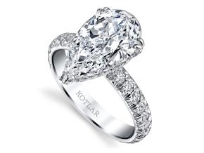 Engagement Rings from the Artisan Pave - By Harry Kotlar - Style #: DRA128K-PS14