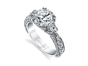 Engagement Rings from the Artisan Pave - By Harry Kotlar - Style #: DRA138C-RD10