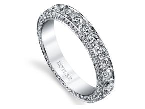 Wedding Rings from the Artisan Pave - By Harry Kotlar - Style #: DDA138B-ME06