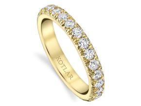 Wedding Rings from the Artisan Pave - By Harry Kotlar - Style #: DDA128I-ME04