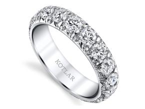 Wedding Rings from the Artisan Pave - By Harry Kotlar - Style #: DDA128J-ME09