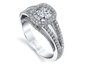 Engagement Rings from the Crescendo - By Harry Kotlar - Style #: DRP191B-CU04