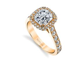Engagement Rings from the Artisan Pave - By Harry Kotlar - Style #: DRP202A-KC06