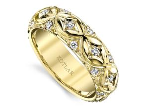 Wedding Rings from the Artisan Pave - By Harry Kotlar - Style #: DDA268Y-ME02