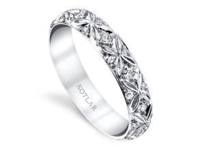 Wedding Rings from the Artisan Pave - By Harry Kotlar - Style #: DDA268W-ME01