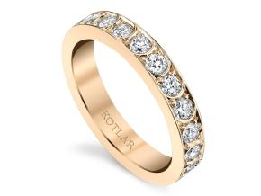 Wedding Rings from the Artisan Pave - By Harry Kotlar - Style #: DDA138A-ME04