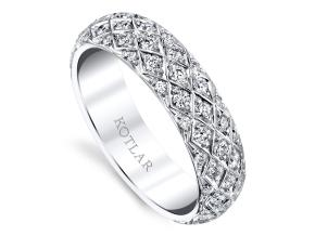 Wedding Rings from the Artisan Pave - By Harry Kotlar - Style #: DDA272W-ME04