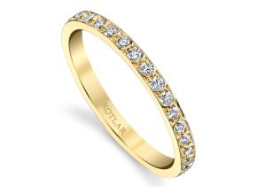 Wedding Rings from the Artisan Pave - By Harry Kotlar - Style #: DDA273Y-ME01