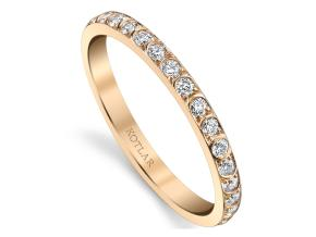 Wedding Rings from the Artisan Pave - By Harry Kotlar - Style #: DDA273R-ME02