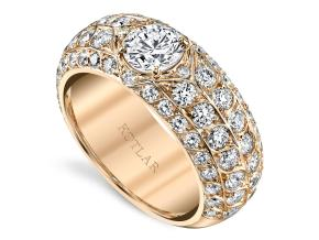 Wedding Rings from the Artisan Pave - By Harry Kotlar - Style #: DDA699R-RD03