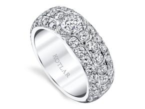 Wedding Rings from the Artisan Pave - By Harry Kotlar - Style #: DDA270W-RD02