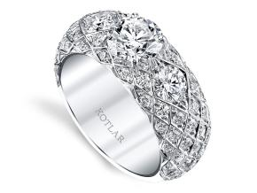 Wedding Rings from the Artisan Pave - By Harry Kotlar - Style #: DDA271W-RD04