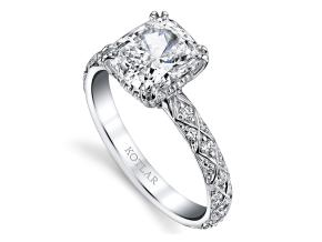 Engagement Rings from the Artisan Pave - By Harry Kotlar - Style #: DRA128B-KC08