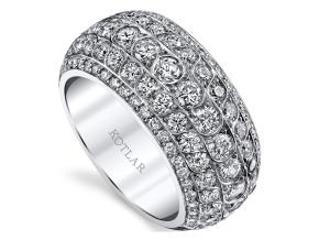 Wedding Rings from the Artisan Pave - By Harry Kotlar - Style #: DDA275W-ME11