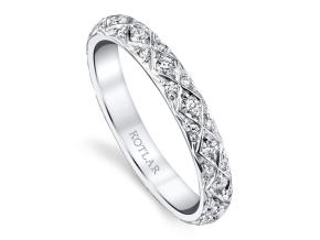 Wedding Rings from the Artisan Pave - By Harry Kotlar - Style #: DDA128B-ME02