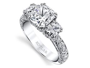 Engagement Rings from the Artisan Pave - By Harry Kotlar - Style #: DRA137A-KC08