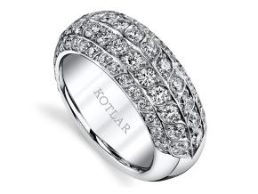Wedding Rings from the Artisan Pave - By Harry Kotlar - Style #: DDA699W-ME07