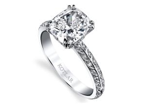 Engagement Rings from the Artisan Pave - By Harry Kotlar - Style #: DRA128C-KC08