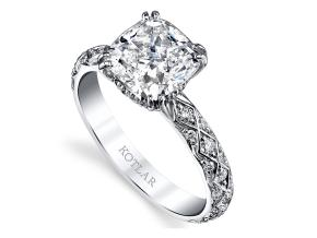 Engagement Rings from the Artisan Pave - By Harry Kotlar - Style #: DRA128B-CU10