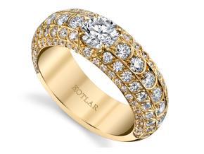 Wedding Rings from the Artisan Pave - By Harry Kotlar - Style #: DDA-274YRD02