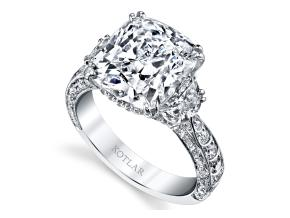 Engagement Rings from the Artisan Pave - By Harry Kotlar - Style #: DRA135A-CU24