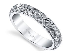 Wedding Rings from the Artisan Pave - By Harry Kotlar - Style #: DDA268W-ME02