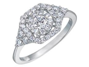 Engagement Rings from the Diamond Bouquets™ - By Memoire - Style #: MABQ1ER-0050TW