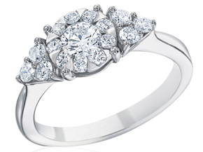 Engagement Rings from the Diamond Bouquets™ - By Memoire - Style #: MBQ01ER-0075TW