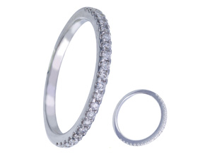 Wedding Rings from the Diamond Bouquets™ - By Memoire - Style #: MBQ01MB-0025TW