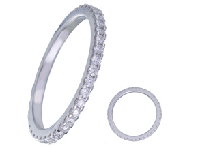 Wedding Rings from the Diamond Bouquets™ - By Memoire - Style #: MBQ01MB-0050TW