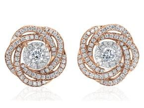 Earrings from the Diamond Bouquets™ - By Memoire - Style #: MBQ02E-0066TR